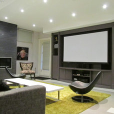 Contemporary Home Theater by Dochia Interior Design