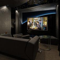 Contemporary Home Theater by Vadim Kadoshnikov