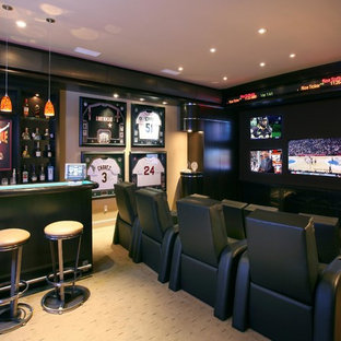 Trendy home theater photo in Other