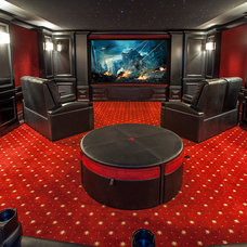 Traditional Home Theater by Grupenhof Photography