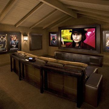 Contemporary Media Room