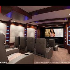 Contemporary Home Theater Contemporary Media Room