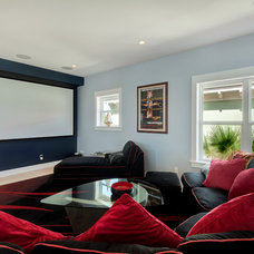 Contemporary Home Theater Contemporary Media Room