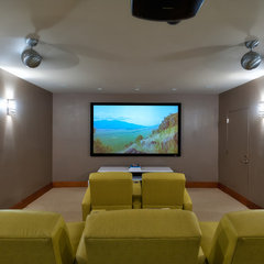contemporary media room by LKID