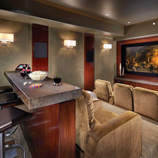 Tropical Home Theater by Wendi Young Design