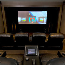 Contemporary Home Theater by A Sound Decision Inc.