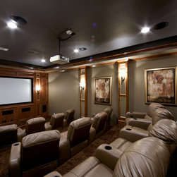 dallas traditional drop ceiling home theater design ideas pictures
