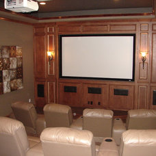 Traditional Home Theater by Dallas Renovation Group
