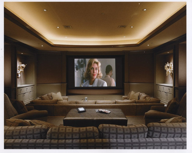 Traditional Home Theater by Anthony Catalfano Interiors Inc.