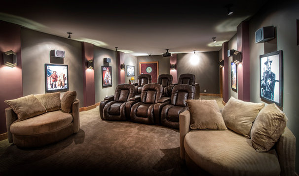 Traditional Home Theater by Rezac Construction