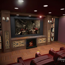 Traditional Home Theater by Pierre Jean-Baptiste Interiors
