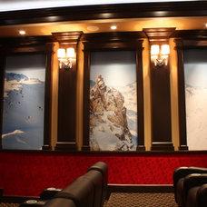 Traditional Home Theater by Cinema Design Group International (CDGi)