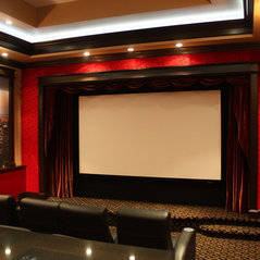 cozy on the flip side theater - Home Theater Design Group