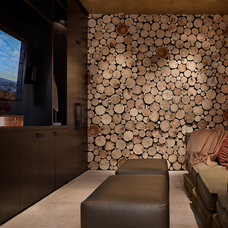 Contemporary Home Theater by Highline Partners, Ltd