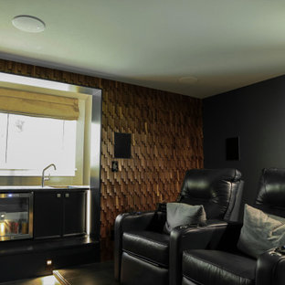 Craftsman Inspired Basement Home Theater