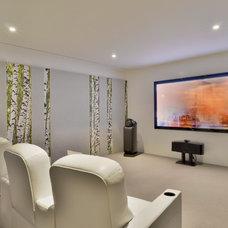 Contemporary Home Theater by Crescendo Designs, Ltd.