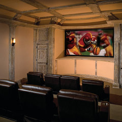 traditional media room by Crescendo Designs, Ltd.