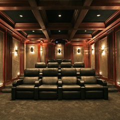 contemporary media room by Crescendo Designs, Ltd.