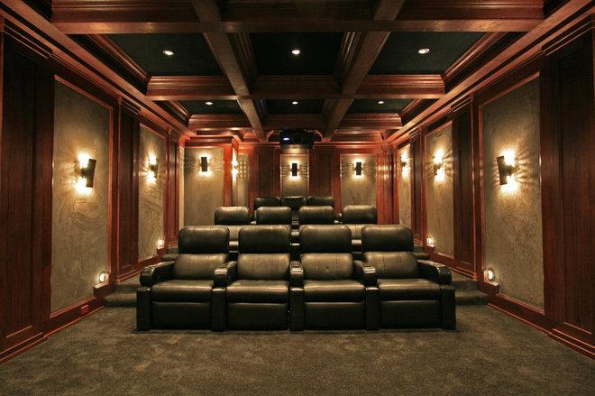 Traditional Home Theater by Crescendo Designs, Ltd.