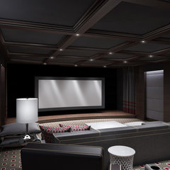 contemporary media room by Clark Gaynor Interiors