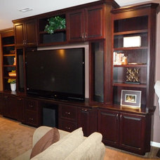 Traditional Home Theater Custom Built in Entertainment Center