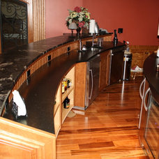 Traditional Home Theater by M.I.B. Construction & Hilltown Custom Cabinetry
