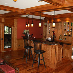 traditional media room by M.I.B. Construction & Hilltown Custom Cabinetry