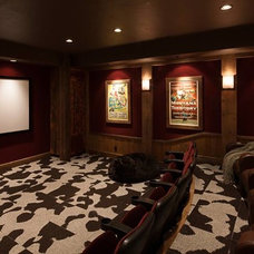 Rustic Home Theater by Rocky Mountain Direct