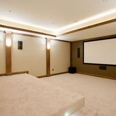 Traditional Home Theater by Eddy Homes
