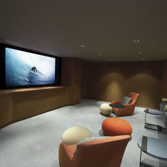 modern media room by lascala.ca
