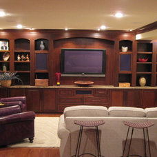 Traditional Home Theater by Hammer Contractors