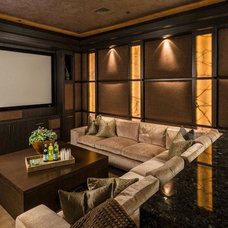 Traditional Home Theater by Blackbird Interiors