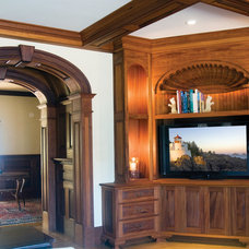 Traditional Home Theater by Carriage House Developments