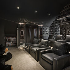 Contemporary Home Theater by Zoltan Construction LLC