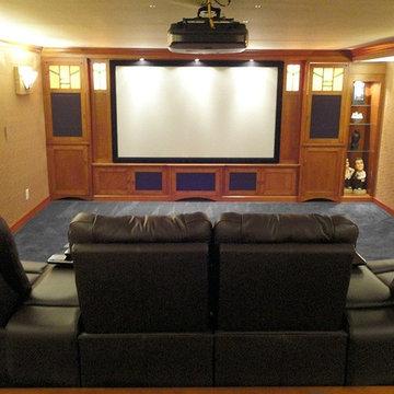 Custom Stickley Home Theater