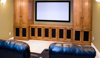 Custom Wood Cabinet Home Theater