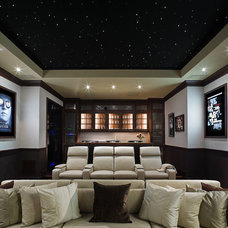 Transitional Home Theater by SoJo design