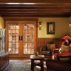 Craftsman Home Theater by HartmanBaldwin Design/Build