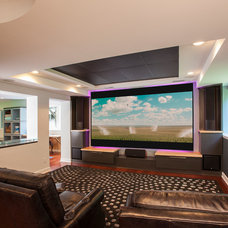 Contemporary Basement by Forward Design Build