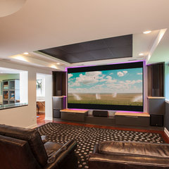 contemporary basement by Forward Designers and Builders