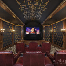 Traditional Home Theater by Anything But Plain, Inc.