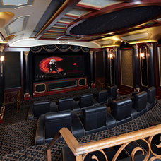 Traditional Home Theater by Cinema Design Group International (CDGi)