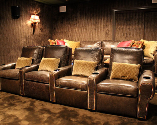 Theme Dedicated Home Theater Rooms Design Ideas & Remodel Pictures
