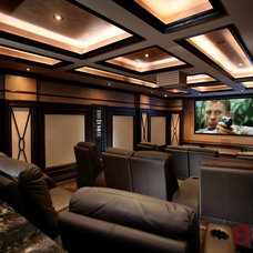 Eclectic Home Theater by Station Earth