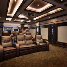 Transitional Home Theater by Station Earth