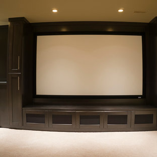 Dedicated Theatre with Beautiful Cabinetry