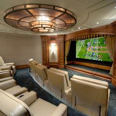 Traditional Home Theater by Sorento Design, LLC.