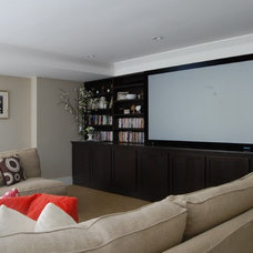Eclectic Home Theater by Dana Nichols