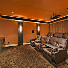 Contemporary Home Theater by Pinnacle Architectural Studio