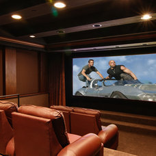 Contemporary Home Theater by Environments by Design
